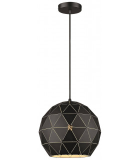 Suspension Noir mat DERBY 1 Lumières