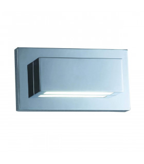 Applique Led Wall, en chrome et polycarbonate