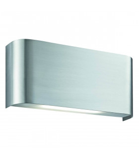 Applique Led Wall, en argent satiné et polycarbonate