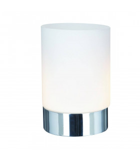 Lampe de table Touch Lamps 15 cm, en chrome et verre opale