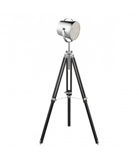 Lampadaire Adjustable Stage Lamp, noir, chrome