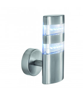 Applique Led Outdoor, en acier inoxydable et polycarbonate