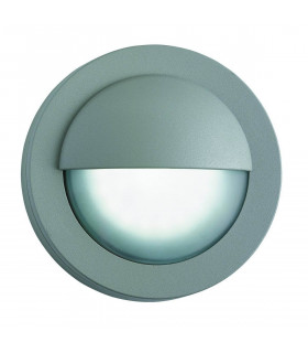 Applique ronde Led Outdoor, en aluminium et verre