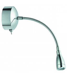 Applique/liseuse LED chrome