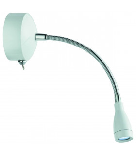 Applique/liseuse LED chrome et blanc