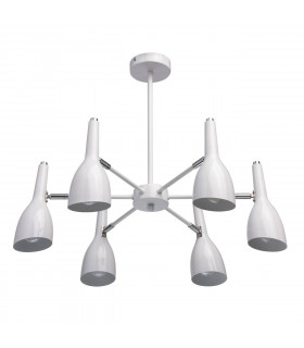 Suspension blanche Techno 6 ampoules 40 Cm
