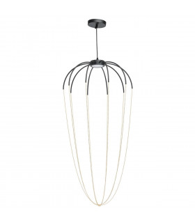 Suspension noire Industrial   230 Cm