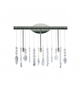 Applique murale design en cristal STRETTA chrome 5 ampoules