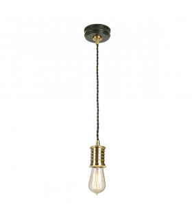 Suspension Douille, laiton antique