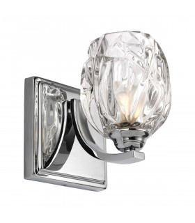 Applique Kalli, IP44, verre et chrome poli, LED