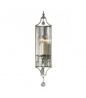 Suspension Gianna, argent et cristal , 4 ampoules