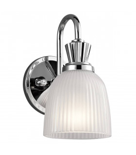 Applique Cora, chrome poli, verre, LED