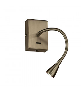 Applique Murale en bronze LED 1 Ampoule