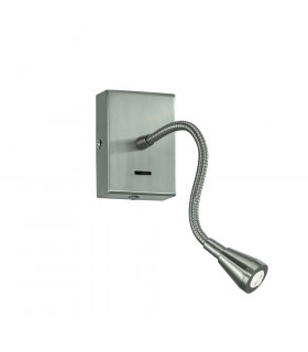 Applique Murale en nickel satiné LED 1 Ampoule