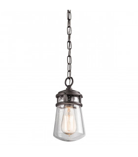 Suspension Halleron, bronze et verre