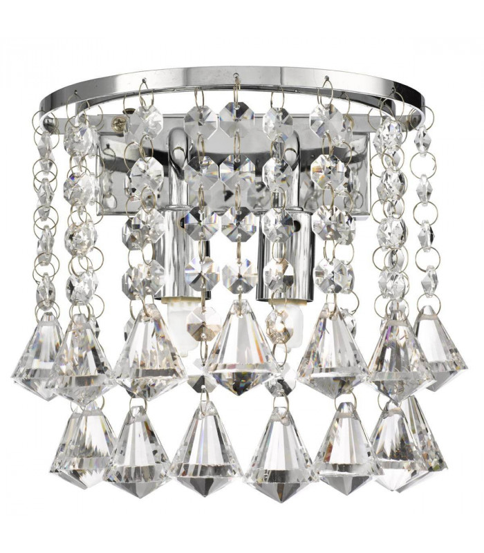Applique Dorchester, en chrome et cristal