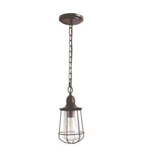 Suspension Marine, bronze et verre, grande