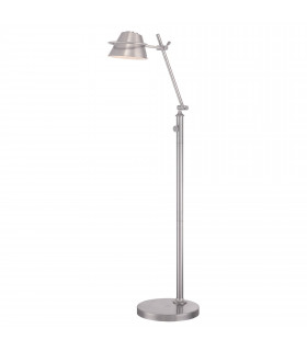 Lampadaire Spencer, nickel brossé