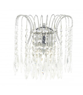 Applique 2 ampoules Waterfall, en chrome et cristal