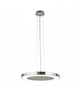 Suspension 35 cm Lexi, chrome et verre