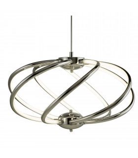 Suspension Bardot, chrome, 29W