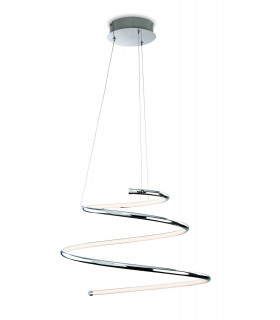 Lampadaire LED Gemini, chrome