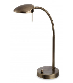 Lampe Hampton, chrome brossé