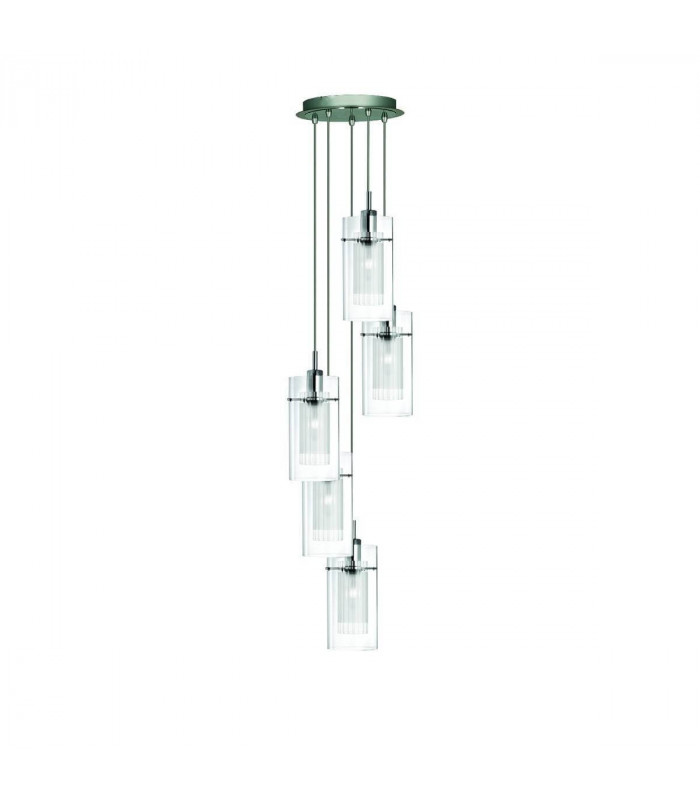 Suspension 5 ampoules duo1 en chrome et verre - Suspension en forme d ampoule ...