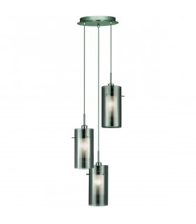 Suspension 3 ampoules Duo2 en chrome et verre